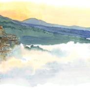 Un mattino d'inverno la nebbia avvolge l'alba e le valli della Basilicata…